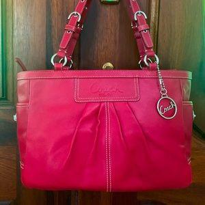 Coach cherry red shoulder bag.